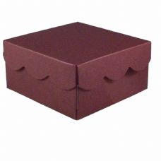 Maroon Scalloped Lid Designer Favour Boxes